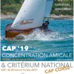 affiche de la régate du critérium national cap corse 2019 ayant lieu au CN Loctudy